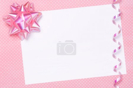 Blank party invite or gift tag