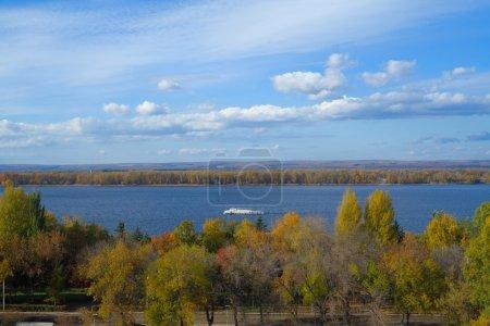 Water landscape. Autumn