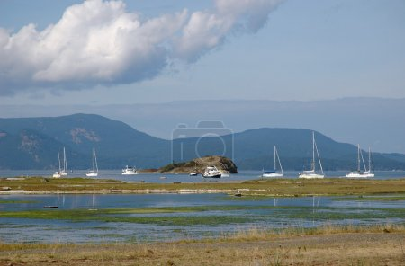 Photo for Boats off-shore of Spencer spit state park, Lopez Island - Royalty Free Image