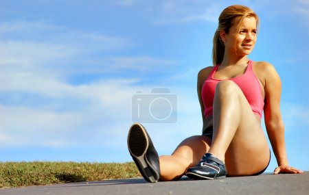 Resting Workout Woman