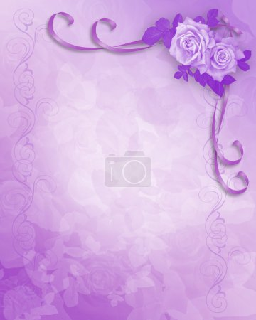 Wedding Invitation lavender roses