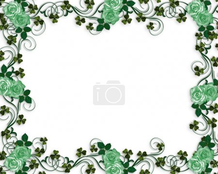 St Patricks Day Shamrocks and roses