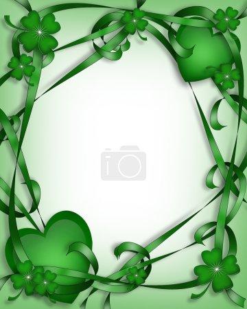 St. Patricks Day Card Irish Background