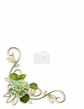 Hydrangea Floral Corner Design