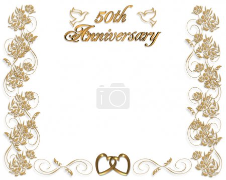 3D Illustrated design for 50th wedding Anniversary...