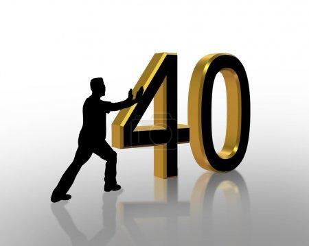 40th Birthday invitation Graphic
