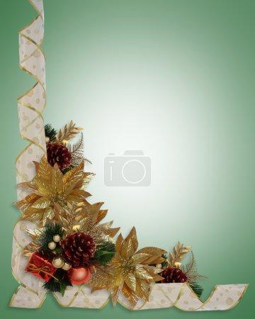 Christmas border ribbons elegant gold po