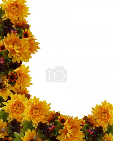 Autumn Fall Floral Background Border