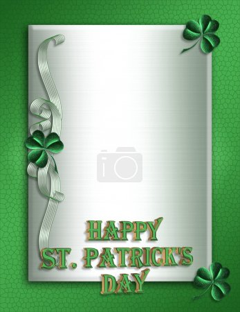 St Pattys Day Border 3D text