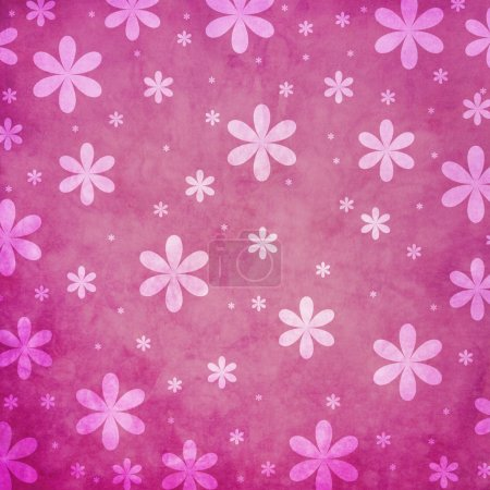 Grunge pink flower background