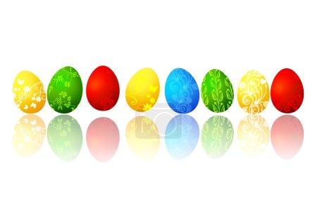 Photo pour Illustration Œufs de Pâques, isolés sur blanc - image libre de droit