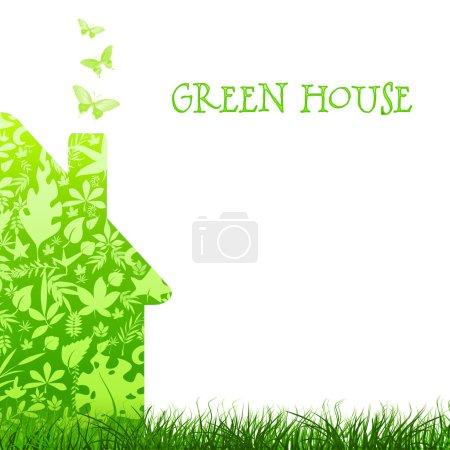 Foto de Arquitectura de Ecología naturaleza casa verde sobre fondo claro. responsabilidad ambiental - Imagen libre de derechos