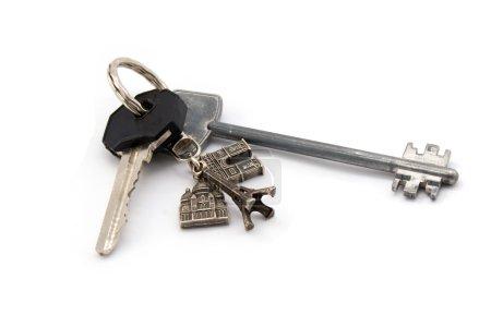 Photo pour Deux clés isolé sur blanc - image libre de droit