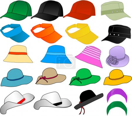 Illustration for Vector Hats - Royalty Free Image