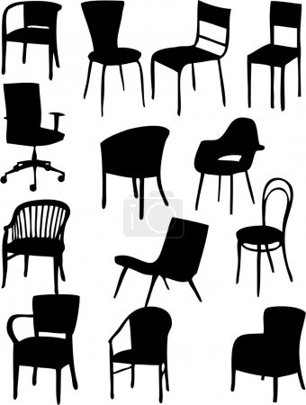 Illustration for Chair vector - silhouette - Royalty Free Image