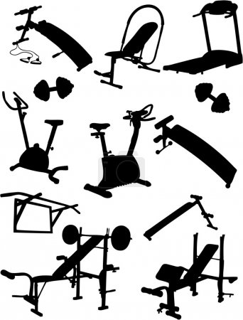Illustration for Fitness Vector Icons - Royalty Free Image