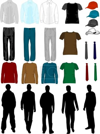 Illustration for Men Dress Collection , vector work - Royalty Free Image
