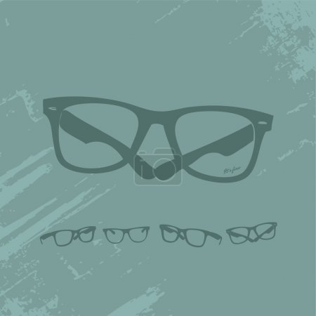 Photo for Hip Glasses Set on Grunge Background — check out my portfolio for more similar images. - Royalty Free Image