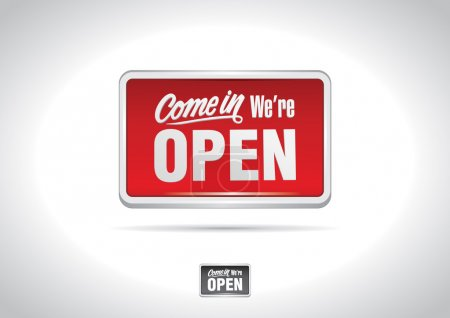 Photo for The classic OPEN sign icon. - Royalty Free Image