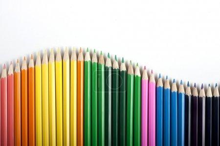 Photo pour Crayons de couleur bg - image libre de droit