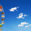 Ferris Wheel, sky and clouds...