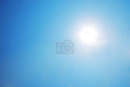 Photo for Sun shining and blue sky - Royalty Free Image