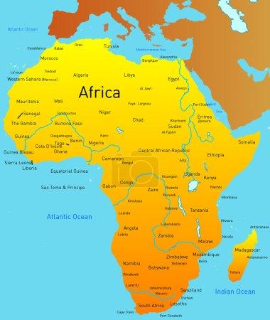 Photo pour Carte abstraite du continent Afrique - image libre de droit