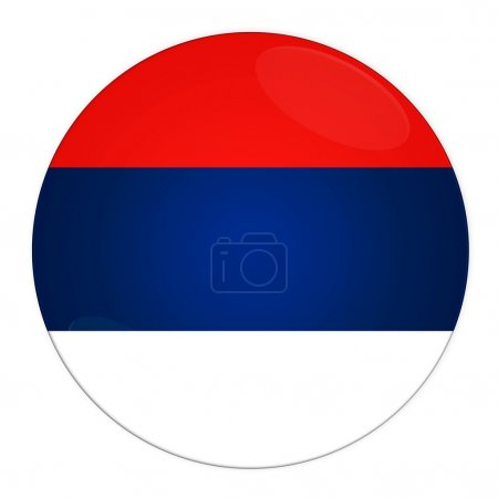 Serbia button with flag