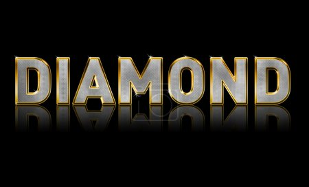 Photo for Abstract illustration of Bling Text, Diamond Sparkle - Royalty Free Image