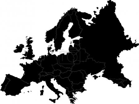 Illustration for Abstract europe vector map on white - Royalty Free Image