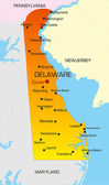 Vector color map of Delaware state Usa