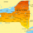 Vector color map of New York state. Usa...