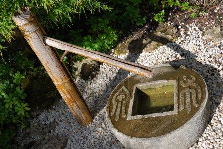Zen fountain close-up