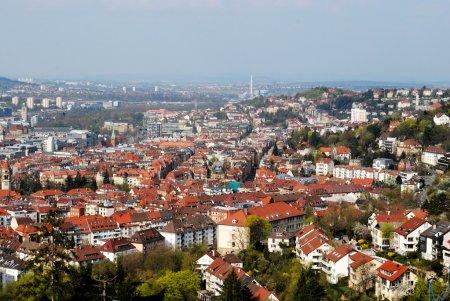 View of Stuttgart city centre