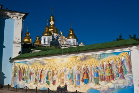 Religious murals and orthodox church