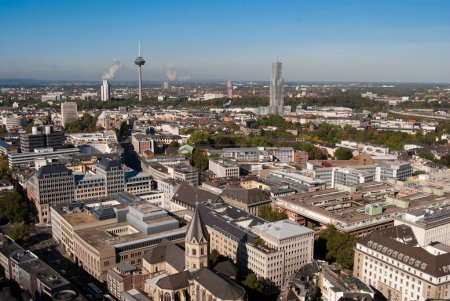 Cologne cityscape from Cologne cathedral