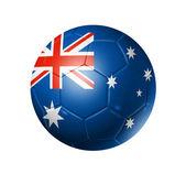 ballon de football soccer avec le drapeau de l'Australie