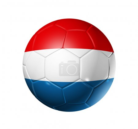 Soccer football ball with Netherlands fl