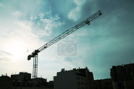 Photo for Wrecking crane on building site - Royalty Free Image