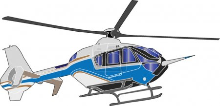 Illustration for Helicopter illustration - vector - Royalty Free Image