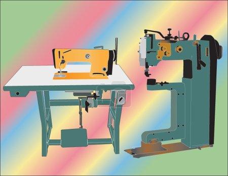 Illustration pour Machine à coudre - vecteur - image libre de droit