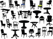 Chairs and tables illustration