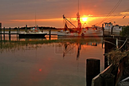 Photo for Sunset near Folly Beach, SC - Royalty Free Image