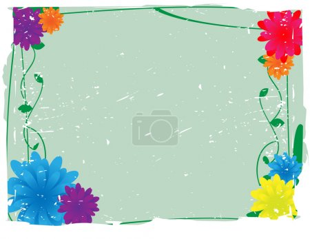Flowery Grunge Vector Background