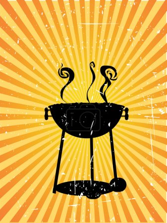 Silhouette bbq sunny rays accented grung