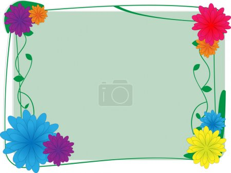 Flower and ivy border - Vector Backgroun