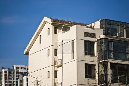 Apartment Building under blue sky