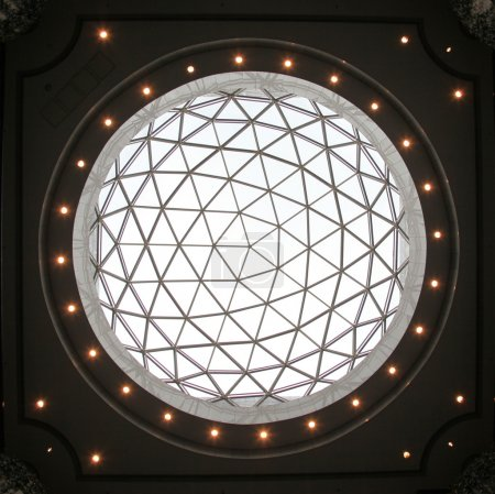 Glass dome of a modern business building