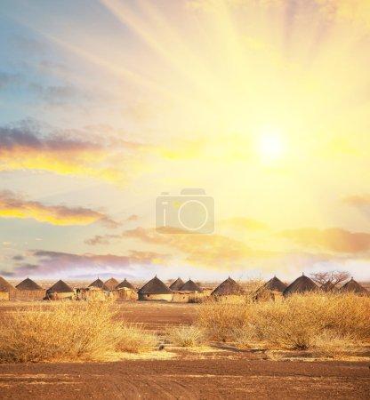 Photo pour Cabane africaine - image libre de droit