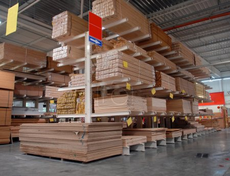 Warehouse of building materials